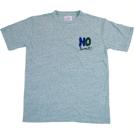 HANDLE EMBROIDERY MESSAGE TEE -MIX GREEN-