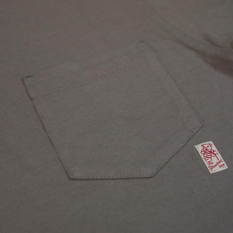 ※STANDARD PACK COLOR POCKET TEE -CHARCOAL- R185-0103