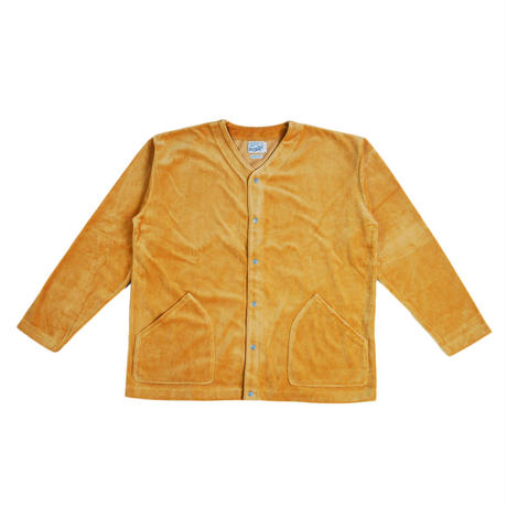 ※VELOUR FLEECE CARDIGAN -MUSTARD- R183-0609