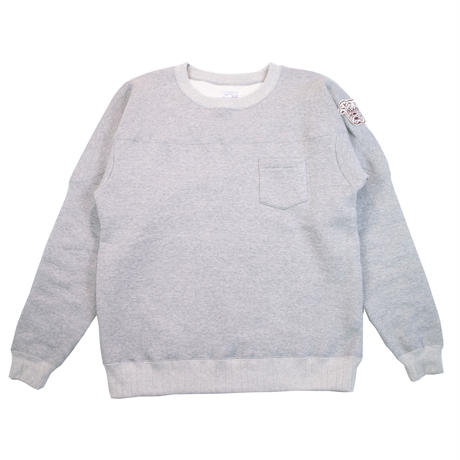 * HEAVY FLEECE CREW NECK -MIX GRAY- R183-0304