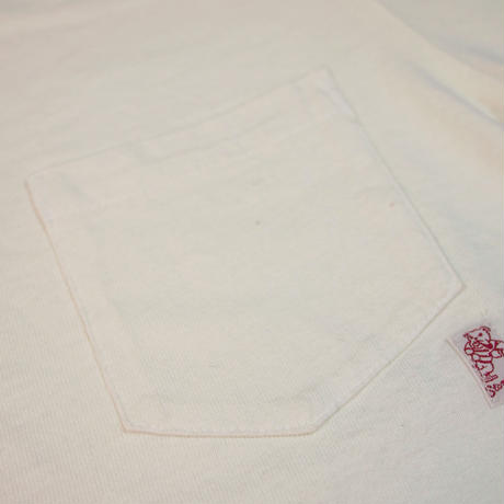 ※STANDARD PACK COLOR POCKET TEE -OFFWHITE- R185-0103