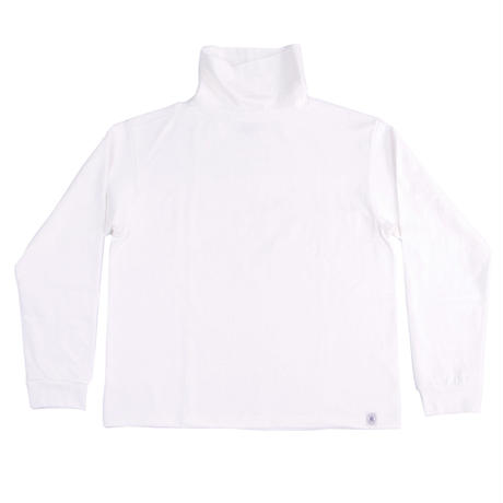 LOOPWHEEL HIGH NECK L/S TEE -OFF WHITE-