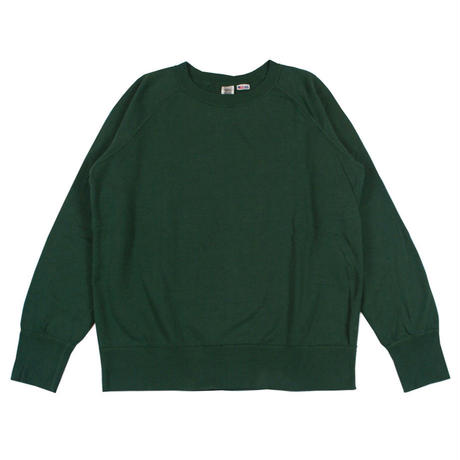 ※7.5 oz. USA FLEECE RAGLAN SWEAT -GREEN- R185-0303