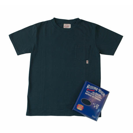 ※STANDARD PACK COLOR POCKET TEE -NAVY- R185-0103