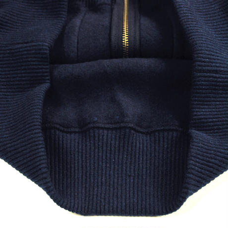 MERINGUE FLEECE ZIP PARKA -NAVY-