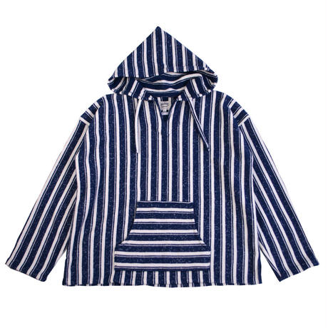 ※STRIPE BLANKET MEXICAN PARKA -NAVY- H181-0402