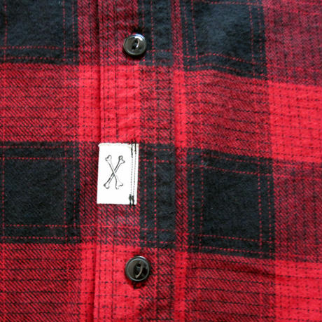 So Glad Hand Flannel Shirt Red×Black