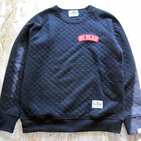 So Glad Knit Quilt Sweat Black