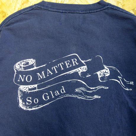 No Matter Pigmento Dye L/S TEE V・Navy