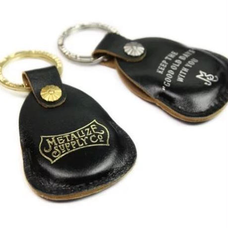 Retro style leather case Keychain