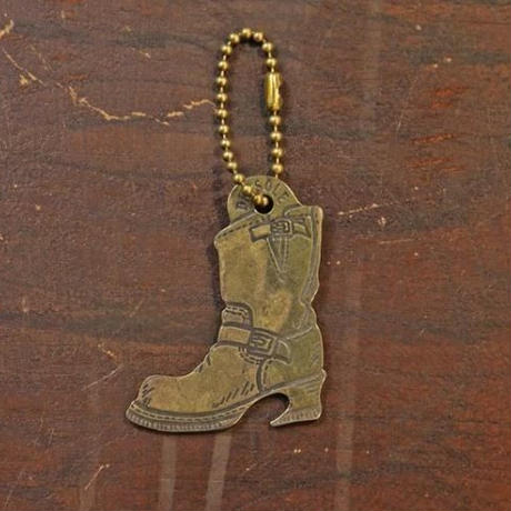 """There is a snake in my boot"" Brass Opener Keyring"