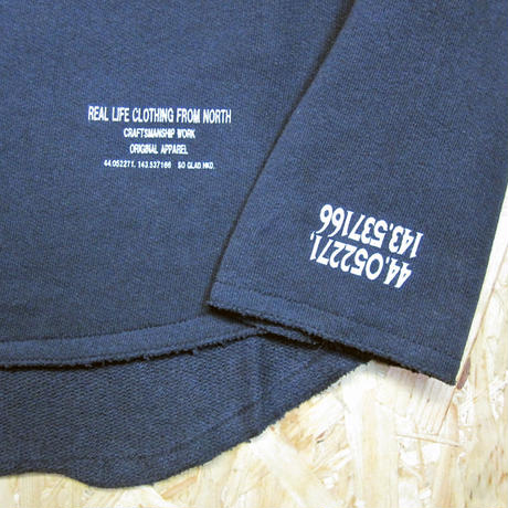 So Glad  Cut-Off Crew Neck Sweat BLK