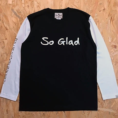 So Glad Logo L/S TEE B