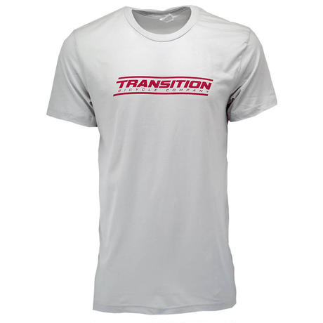 TRANSITION LOGO SILVER RED TEE