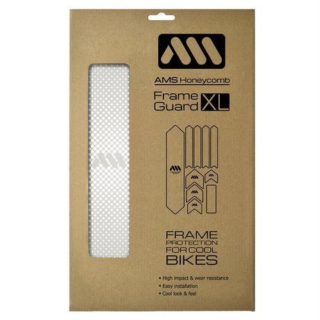 AMS Honeycomb Frame Guard XL. DROPS WHITE