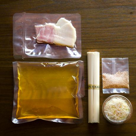 【季節の一汁一菜】鯨ベーコンの素麺 2人前