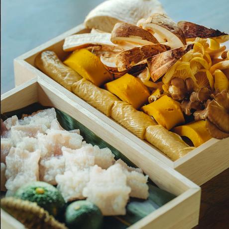 【季節の鍋】名残鱧と松茸の鍋 2人前