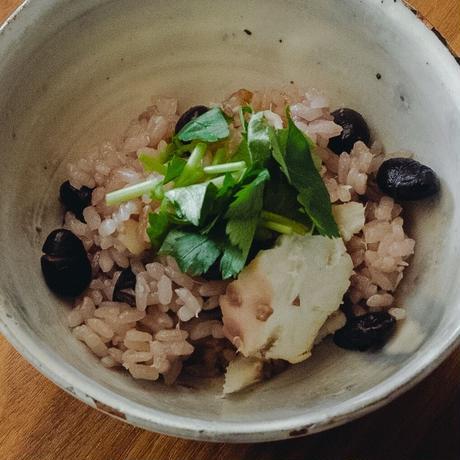 鯛と黒豆の炊き込みご飯 2人前