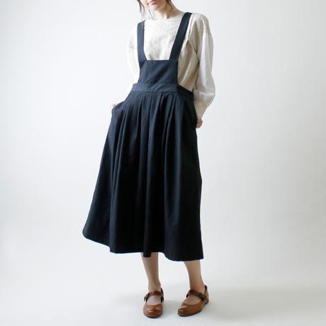 <受注販売>サロペットスカート/ブラック