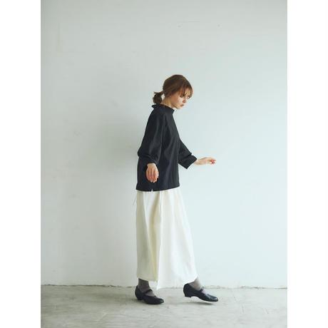 アイリッシュリネン&コットン・イレギュラースカート/オフホワイト