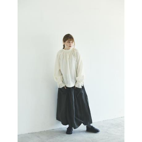 アンティークドット・フリルスリーブ・プルオーバー/オフホワイト