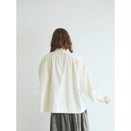 <完売しました>東炊きコットンビエラ・ギャザープルオーバー/アイボリー