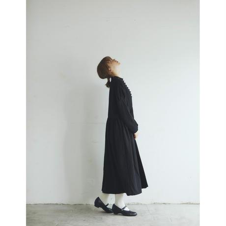 <再入荷>東炊きコットンビエラ・クラシック・ワンピース/ブラック