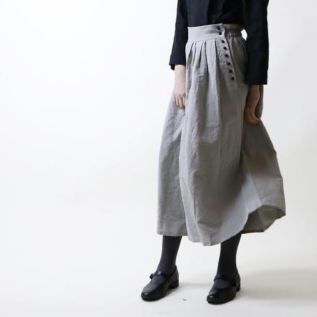 サイドボタン・タックワイド・パンツ/グレー