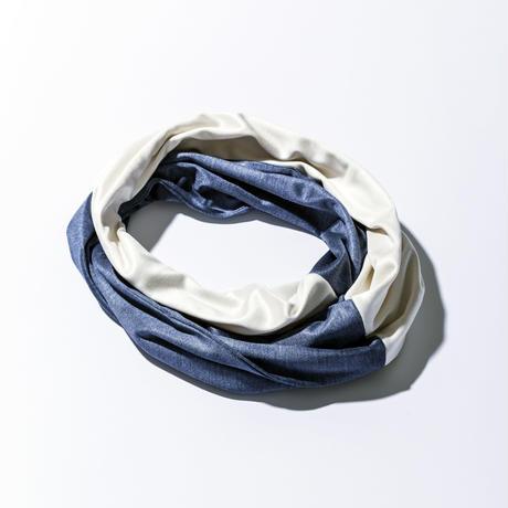 BICOLOR SNOOD(バイカラースヌード)/WHITE&BLUE(ホワイト&ブルー)