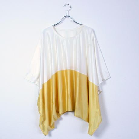 WEARABLE SNOOD BICOLOR T-SHIRT(ウェアラブル・スヌードTシャツ)/WHITE&YELLOW(ホワイト&イエロー)