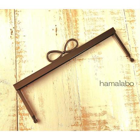 5月18日販売開始!【HA-1799】19cm浮き足口金/(新リボン×ブラック)