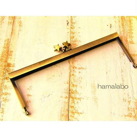【HA-1542】19cm浮き足口金/メタルスター(アンティークゴールド)