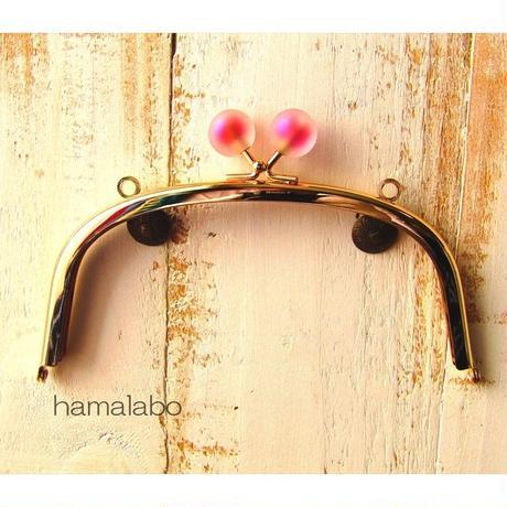 8月26日販売開始!【HA-1634】15cm/くし型(スモーク玉レッド×ゴールド)・カン付き