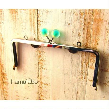 8月26日販売開始!【HA-1639】18cm/角型(スモーク玉グリーンシルバー)・カン付き