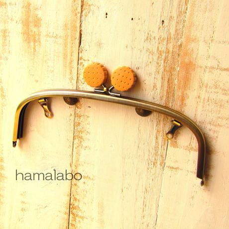 【HA-423】20.4cm/くし型(ビスケット/アンティークゴールド)・兼用カン付き