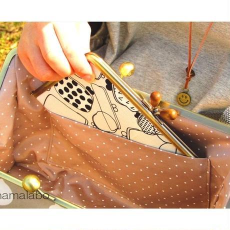 【KT-2034】横長<特マチ>がま口トートバッグの型紙&レシピ【30cm/角型用】