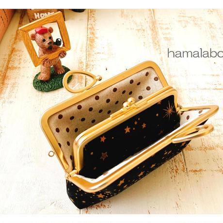 8月20日販売開始!【HA-1889】親子口金12cm(新リボン×ソフトシルバー)