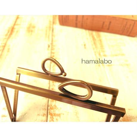 5月18日販売開始!【HA-1798】12cm浮き足口金/(新リボン×アンティークゴールド)