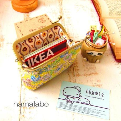 【HA-1409】<横ひねり>10cm/角型の口金(アンティークゴールド)