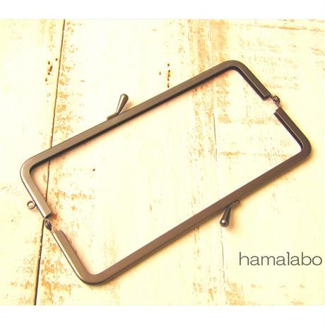 6月1日販売開始!【HA-1848】16.5cm口金/(バットつまみ×グレー)マット加工