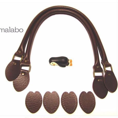 【HA-560】<縫い付けタイプ>手さげ持ち手60cm(焦茶)-YAK-600