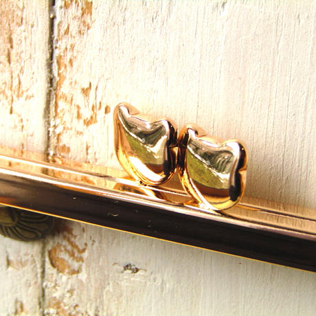 2月28日販売開始!【HA-801】ベアネコちゃん口金 16.5cm/角型(ゴールド)カン付き