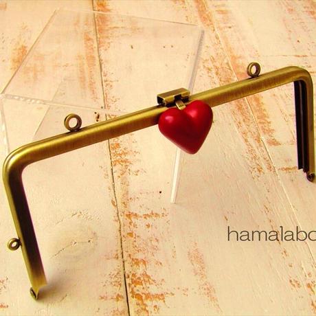3月18日販売開始!【HA-1785】オコシ式口金18cm/角型(丸型金具×アンティークゴールド)カン付き