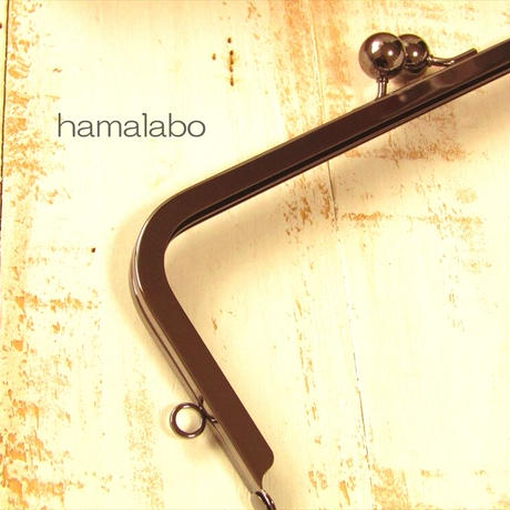 6月1日販売開始!大特価品!【HA-1836】24cm大玉口金/角型/ブラック/+(プラス)
