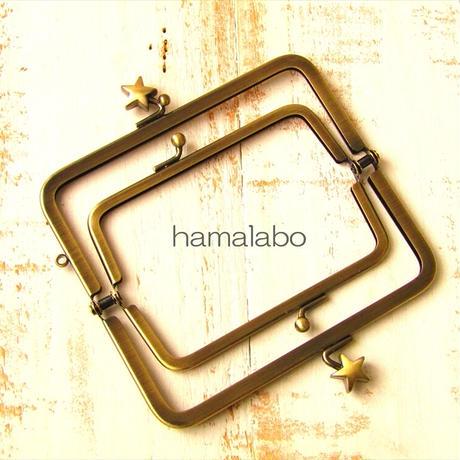 10月16日販売開始!【HA-1958】親子口金 12cm(メタルスター×アンティークゴールド)