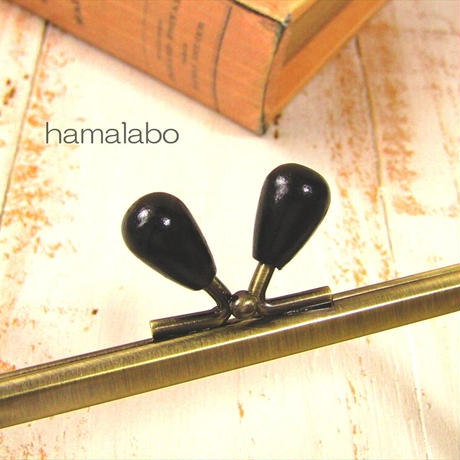 10月1日販売開始!【HA-1942】12cm/角型(黒色の木オーバル×アンティーク)