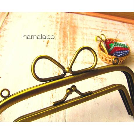3月1日販売開始!【HA-1741】親子口金 14.5cm(リボン×アンティークゴールド)-リングリボン