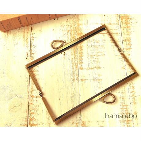 6月1日販売開始!【HA-1800】19cm浮き足口金/(新リボン×アンティークゴールド)