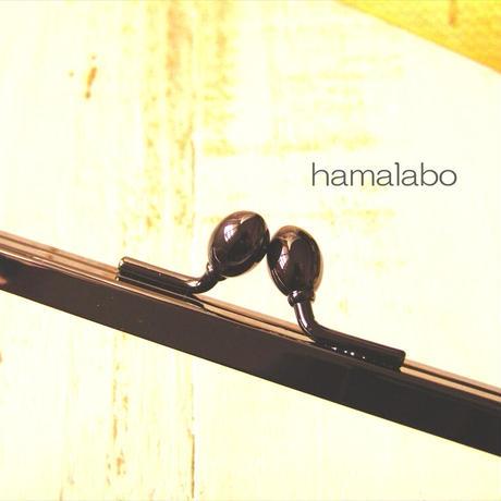 1月8日販売開始!【HA-1771】12cm浮き足口金/ナツメひねり(ブラック)