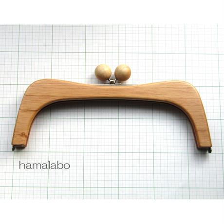 2月13日販売開始!【HA-456】27cmくし型の木製口金(ナチュラルの木玉×アンティークゴールド)